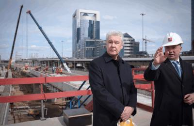 Сергей Собянин проинспектировал строительство ТПУ в Москва-Сити