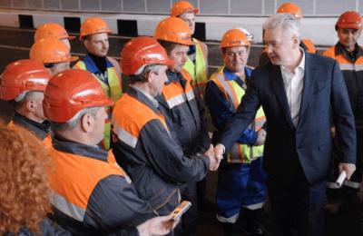 Мэр Москвы Сергей Собянин открыл тоннель на пересечении Дмитровского шоссе и МКАД