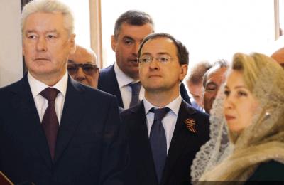 Мэр Москвы Сергей Собянин принял участие в освящении храма Преображения Господня