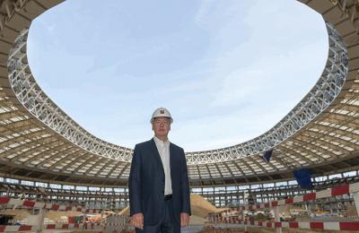 Сергей Собянин проинспектировал ход работ по реконструкции стадиона «Лужники»