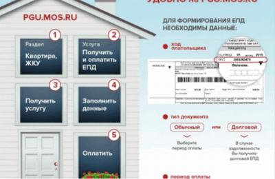 Инфографика «Новая форма оплаты услуг ЖКХ»