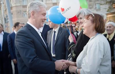 Сергей Собянин поздравил москвичей с открытием после реконструкции пяти улиц в центре столицы