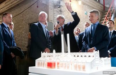 Мэр Москвы Сергей Собянин посетил презентацию музейного комплекса, который будет построен на месте бывшей ГЭС-2
