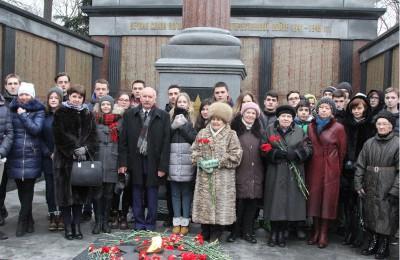Митинг памяти ко Дню защитника Отечества прошел в ЮАО