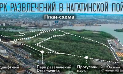 План-схема парка развлечений в Нагатинской пойме