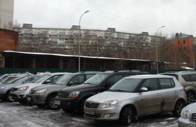 На фото парковка в районе Царицыно