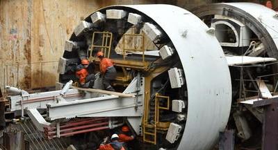 В Москве к сентябрю соберут большой щит для строительства сразу двух путей метро