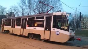На фото трамвай в Южном округе