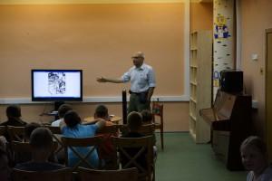 Лекция в библиотеке №141 в районе Царицыно