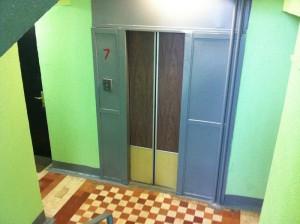 Лифт в одном из домов района Царицыно