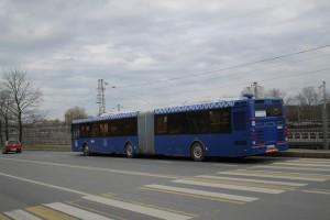 Новый синий автобус в районе Царицыно