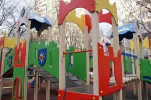 Новая детская площадка в районе Царицыно