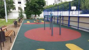 Новая спортивная площадка в районе Царицыно