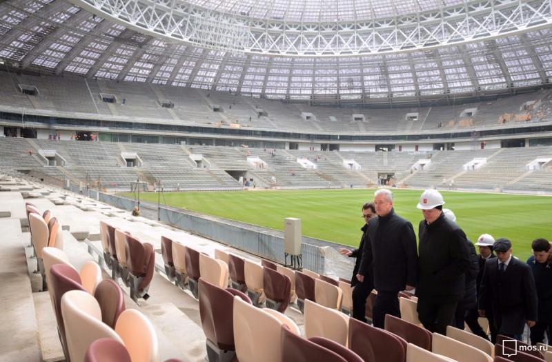 Настадионе «Лужники» завершены работы посозданию газона— Собянин