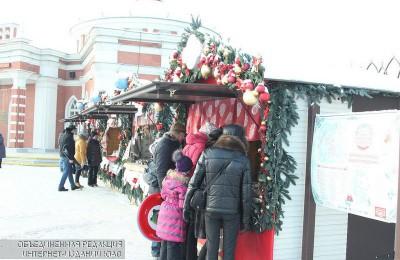Ярмарка на фестивале «Путешествие в Рождество»