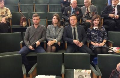 Члены молодежной палаты района Царицыно на пленуме Совета ветеранов ЮАО