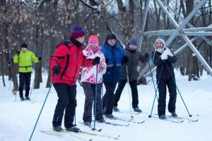 Соревнования по лыжным гонкам в музее-заповеднике Царицыно