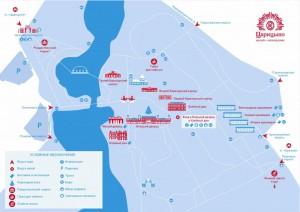 Карта музея-заповедника Царицыно
