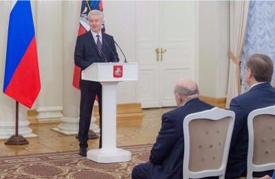 Собянин вручил госнаграды ряду отличившихся москвичей