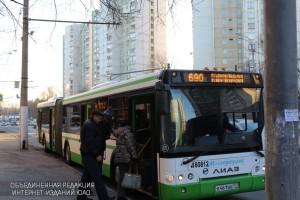 Автобус в районе Царицыно