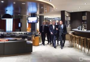 Мэр Москвы Сергей Собянин посетил новый торгово-гостиничный комплекс «Киевский»