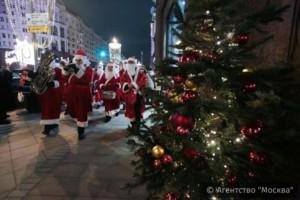Массовые новогодние гулянья в Москве