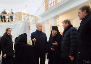 Мэр Москвы Сергей Собянин провел осмотр реставрационных работ в Новоспасском монастыре