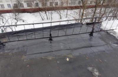 Выполненные работы по ремонту и герметизации кровельного покрытия дома на Кантемировской улице