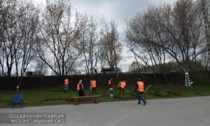 Уборку территории провели в народном парке имени Надежды Рушевой