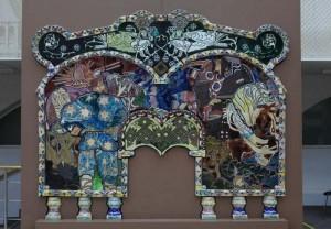 Изразцовый камин работы художника Михаила Врубеля