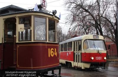 Парад трамваев в Москве в прошлом году