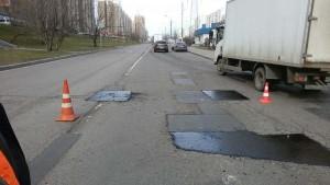 В районе Царицыно починили асфальтовое покрытие