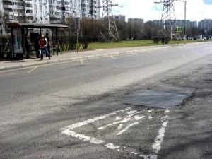 Отремонтированный участок дороги на улице Кантемировская