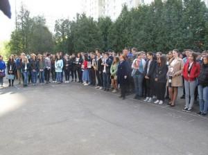 В колледже «Царицыно» прошел торжественный митинг ко Дню Победы