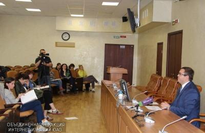 Пресс-конференция с заместителем руководителя Департамента труда и соцзащиты Москвы Андреем Бесштанько