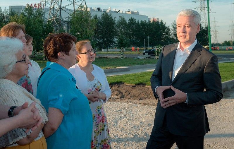 Мэр Москвы Сергей Собянин осмотрел работы в парке 850-летия Москвы