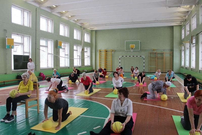 Гимнастика в школе №869