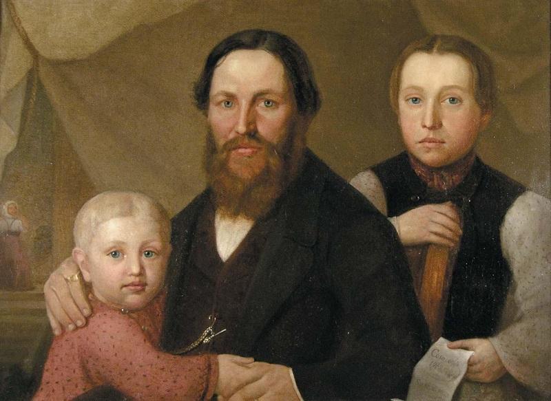 Портрет купца Казакова с сыновьями