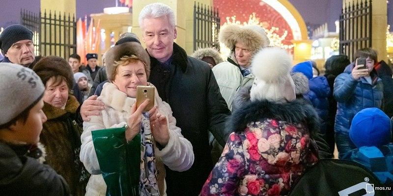 Собянин: Новогодние мероприятия в Москве посетили 12,6 млн. человек
