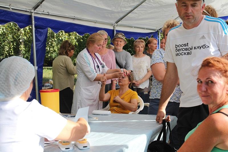 Жители района могут проверить здоровье в парке «Царицыно»