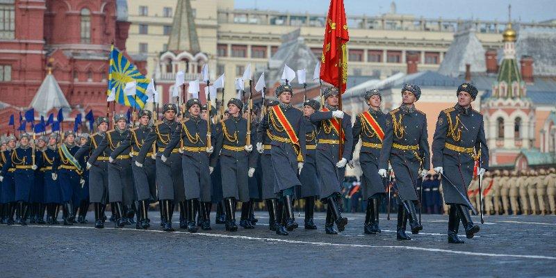 «Юнармия», кадеты, торжественный парад, Красная площадь
