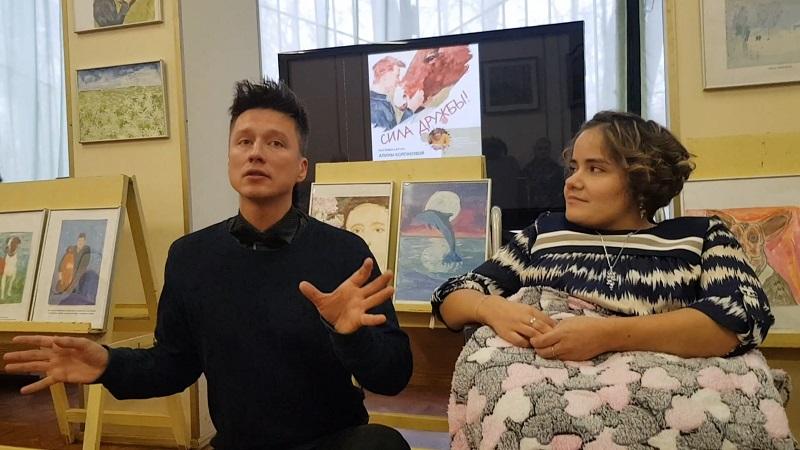Марина Потапова, библиотека 141, Алина Колпакова, выставка, художник, ОВЗ